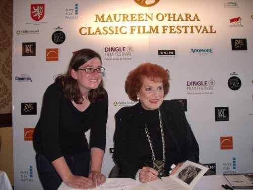 With Maureen O'Hara in Glengarriff, County Cork, Ireland in June 2011.