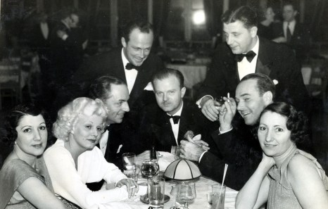William Haines and Jimmy Shields with Jean Harlow, William Powell, and friends.