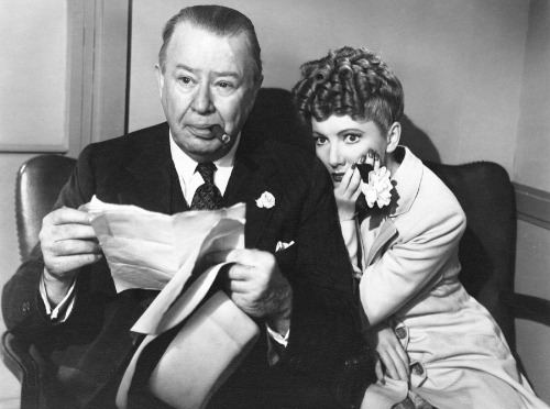 Charles Coburn and Jean Arthur in a scene from THE MORE THE MERRIER, 1943.